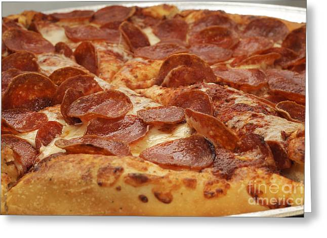 Italian Kitchen Greeting Cards - Pepperoni Pizza 24 Greeting Card by Andee Design