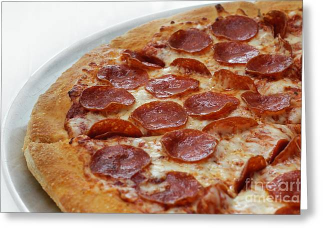 Italian Kitchen Greeting Cards - Pepperoni Pizza 3 - Pizzeria - Pizza Shoppe Greeting Card by Andee Design
