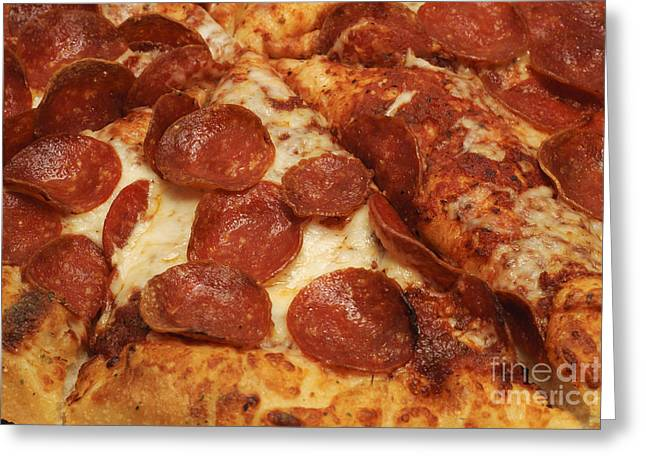 Italian Kitchen Greeting Cards - Pepperoni Pizza 33 Greeting Card by Andee Design