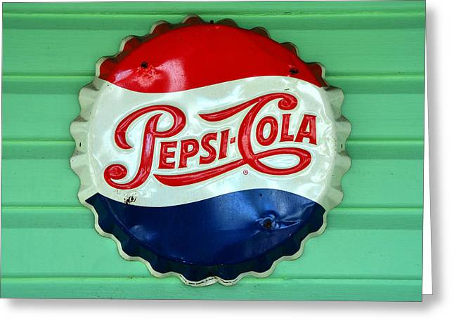Fine Bottle Greeting Cards - Pepsi Cap Greeting Card by David Lee Thompson