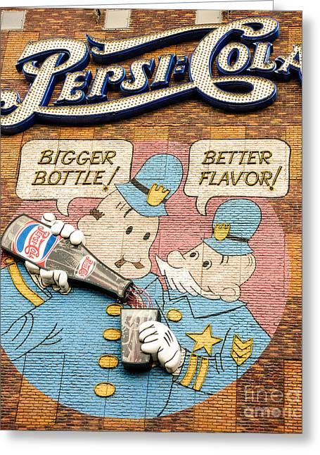 Las Vegas Art Photographs Greeting Cards - Pepsi Cola Greeting Card by Charles Dobbs