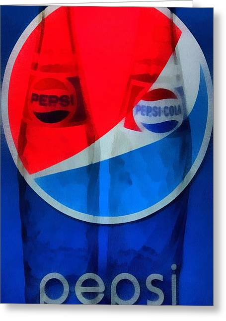 Pepsi Cola Greeting Cards - Pepsi Cola Greeting Card by Dan Sproul