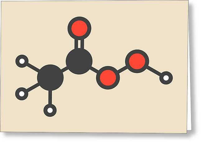 Peracetic Acid Molecule Greeting Card by Molekuul