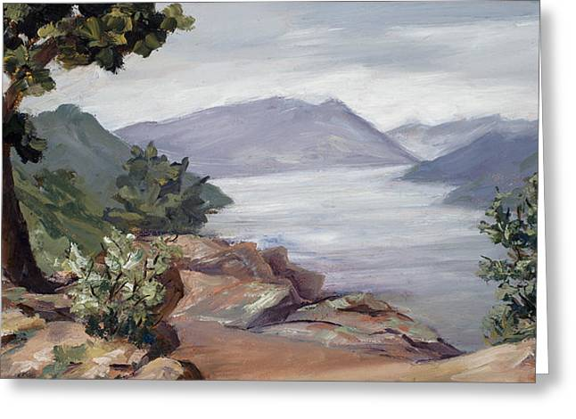 Horsetooth Reservoir Greeting Cards - Perch Greeting Card by Mary Giacomini