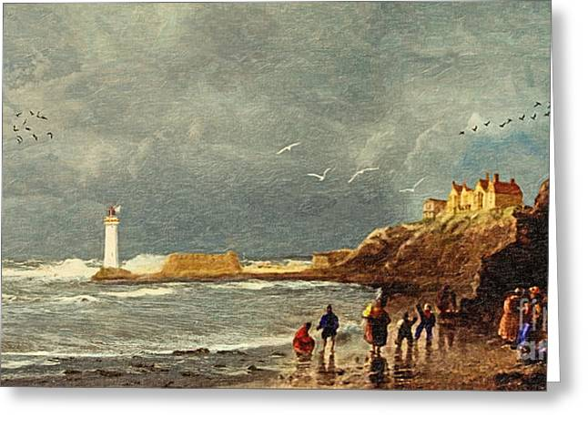 Wooden Ship Greeting Cards - Perch Rock - New Brighton 1829 Greeting Card by Lianne Schneider