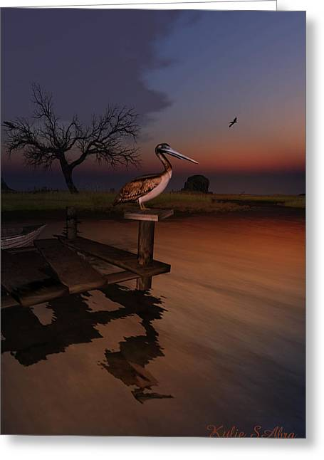 Perch With A View Greeting Card by Kylie Sabra