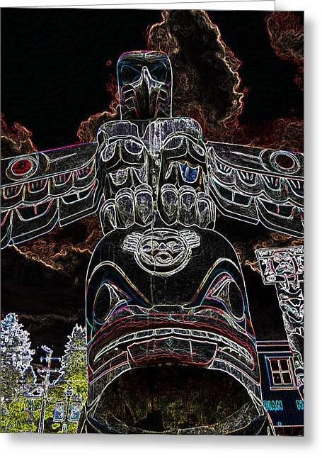 North Vancouver Mixed Media Greeting Cards - Perched And Poised Greeting Card by Travis Crockart