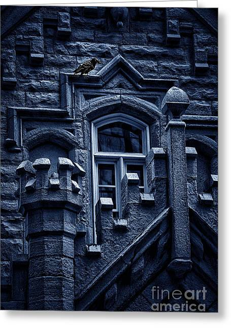 Castle. Birds Greeting Cards - Perched Greeting Card by Margie Hurwich