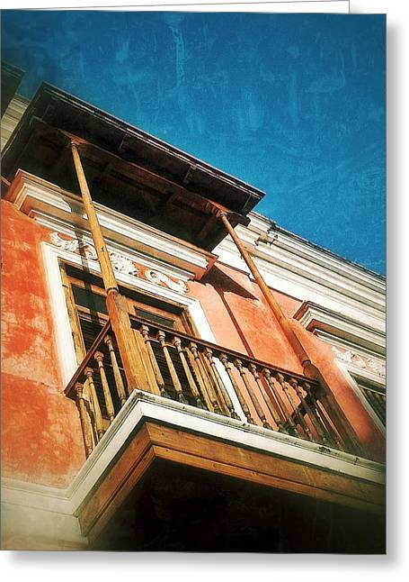 Old San Juan Greeting Cards - Perched Greeting Card by Olivier Calas