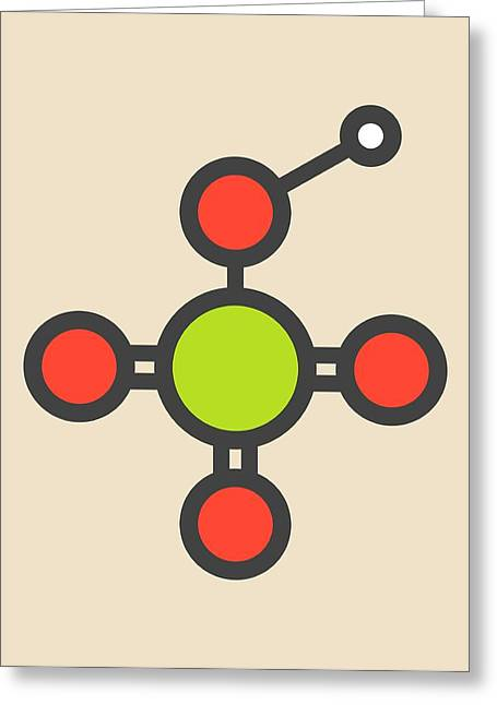 Perchloric Acid Molecule Greeting Card by Molekuul