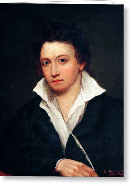 Percy Bysshe Shelley Greeting Card by Bodleian Museum/oxford University Images