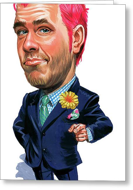 Hilton Greeting Cards - Perez Hilton Greeting Card by Art