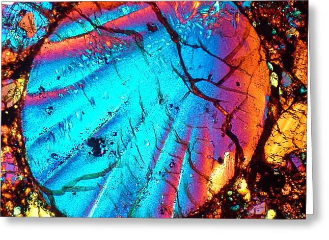 Tom Phillips Greeting Cards - Perfect chondrule 160x Greeting Card by Tom Phillips
