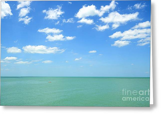 Open Ocean Kayaks Greeting Cards - Perfect Day Greeting Card by Alicia Mick