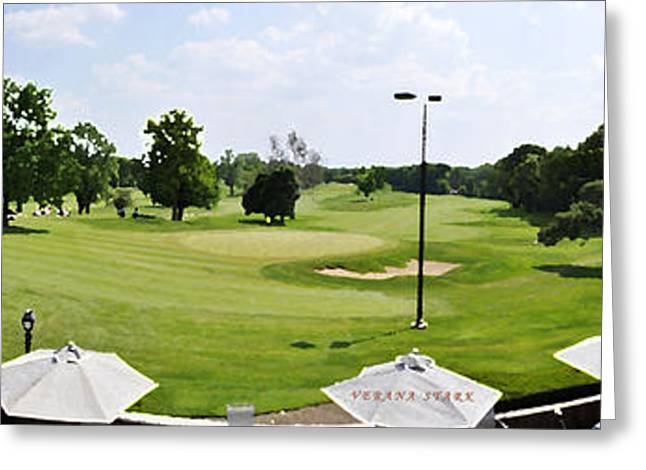 Golfcourses Greeting Cards - Perfect Day for Golf Greeting Card by Verana Stark