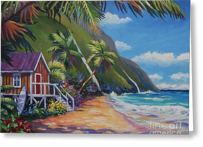 Hanalei Beach Greeting Cards - Perfect Day Greeting Card by John Clark