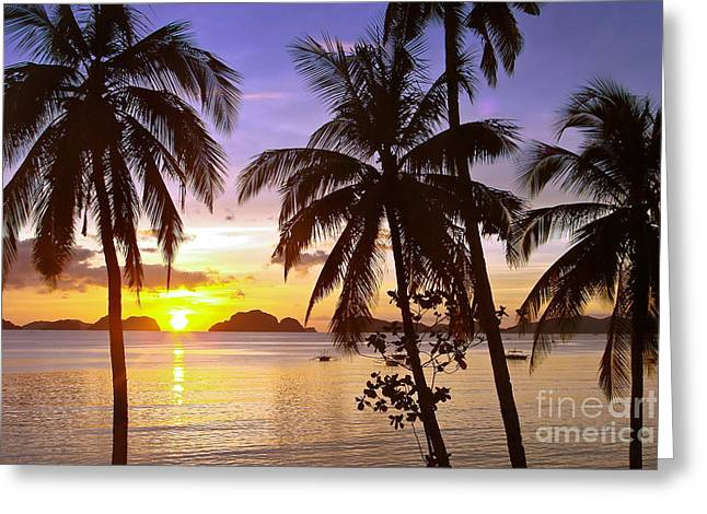 Palawan Greeting Cards - Perfect evening Greeting Card by Delphimages Photo Creations