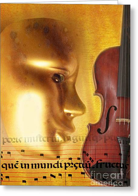 Violine Greeting Cards - Perfect Fifths Greeting Card by R Kyllo
