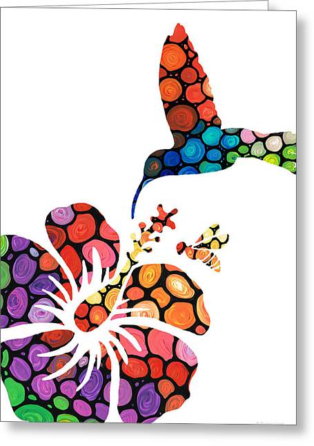 Nectar Greeting Cards - Perfect Harmony - Natures Sharing Art Greeting Card by Sharon Cummings