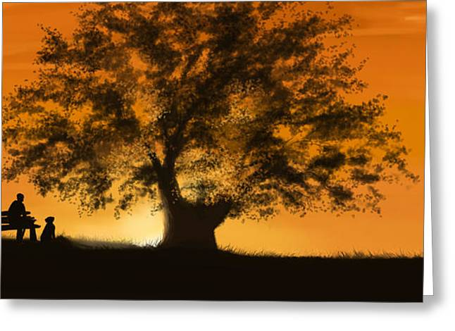 Sunset Prints Greeting Cards - Perfect moment Greeting Card by Veronica Minozzi