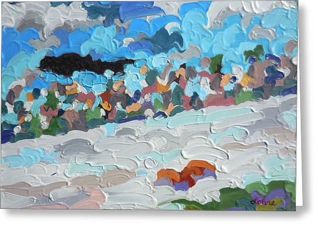 Impasto Type Greeting Cards - Perfect North Slopes I Lawrenceburg Indiana Cincinnati Ohio Impressionism Oil Painting Greeting Card by Tom  Lohre