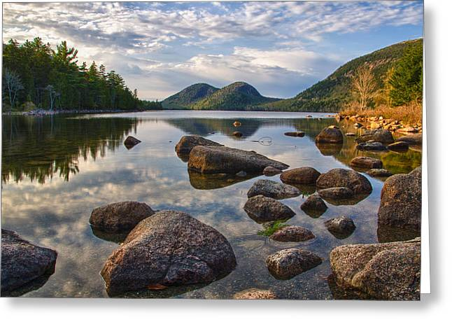 Perfect Pond Greeting Card by Kristopher Schoenleber