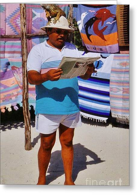Perfect Posture Portrait Greeting Card by John Malone