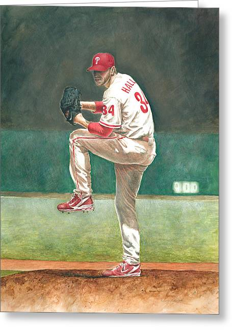Citizens Bank Park. Paintings Greeting Cards - Perfect Greeting Card by Randall Graham