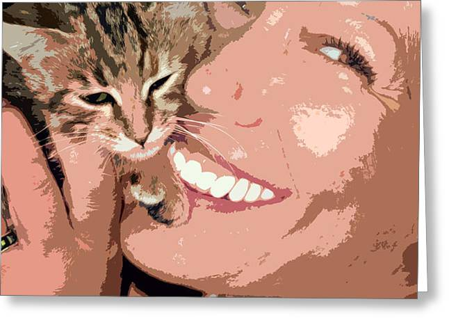 perfect smile Greeting Card by Stylianos Kleanthous