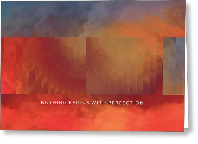 Abstract Artist Greeting Cards - Perfection Motivational Art Greeting Card by LC Bailey
