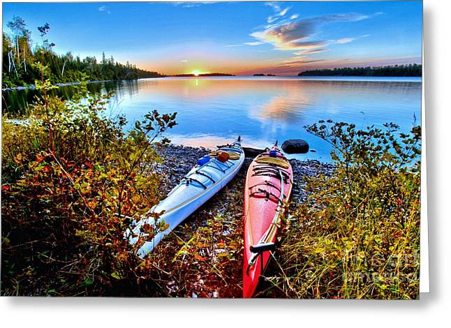 Superior Sunrise Greeting Cards - Perfectly Calm Greeting Card by Adam Jewell