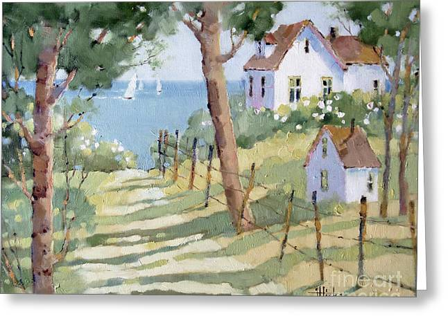 Perfectly Peaceful Nantucket Greeting Card by Joyce Hicks