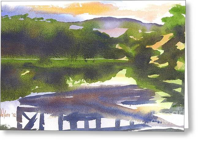 Natural Dam Greeting Cards - Perfectly Still Greeting Card by Kip DeVore