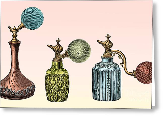 Perfumeries Greeting Cards - Perfume Atomizers Greeting Card by Science Source