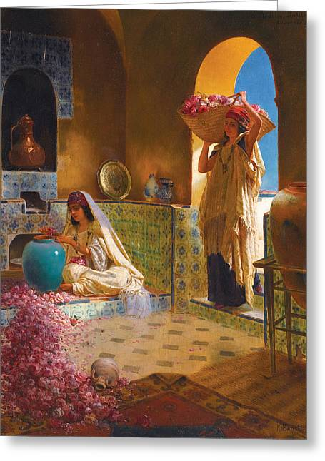 Rudolf Greeting Cards - Perfume Makers Greeting Card by Rudolf Ernst