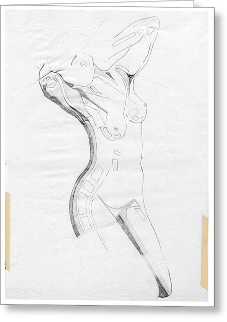 Erotic Sculptures Greeting Cards - Perfume of Venus - Homage Rodin Greeting Card by David Hargreaves