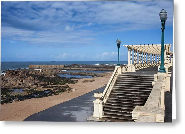 Arbour Greeting Cards - Pergola da Foz at Praia do Molhe Beach in Porto Greeting Card by Artur Bogacki