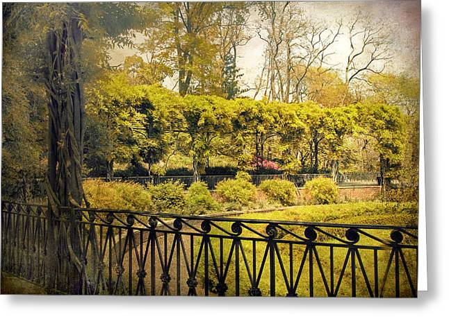 Conservatory Garden Greeting Cards - Pergola Garden Greeting Card by Jessica Jenney