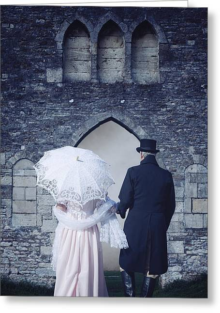 Recently Sold -  - Man Dressed In Black Greeting Cards - Period Couple Greeting Card by Joana Kruse