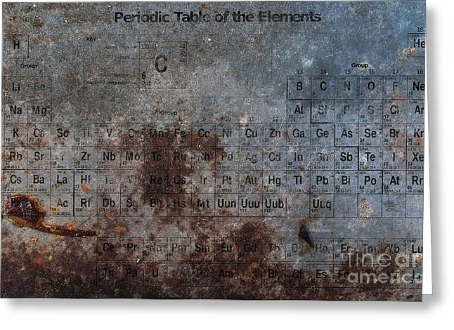 Elements Greeting Cards - Periodic Table of the Elements Greeting Card by T Lang