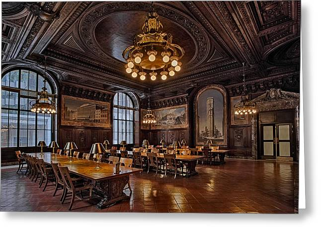 Periodicals Room New York Public Library Greeting Card by Susan Candelario