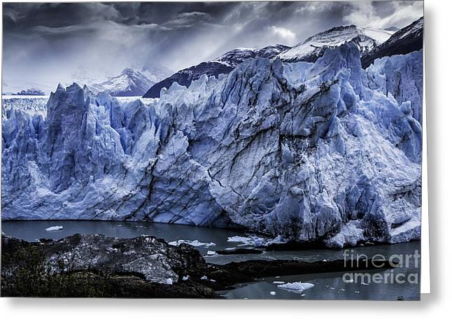 Santa Cruz Art Greeting Cards - Perito Moreno Glacier 1 Greeting Card by Timothy Hacker