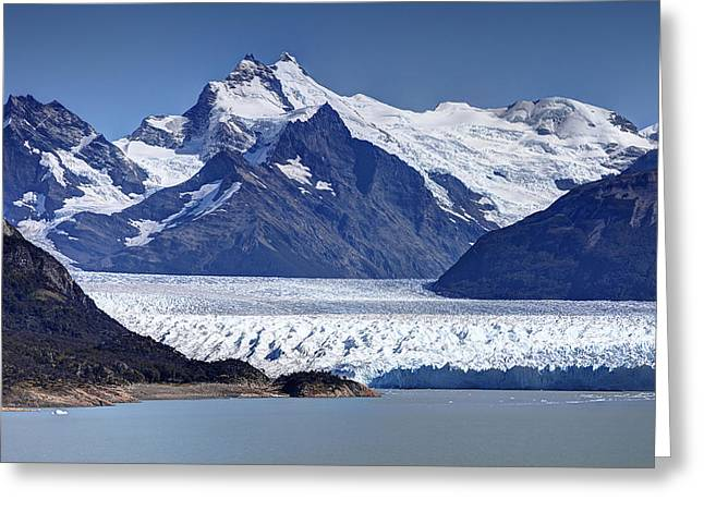 Southern Province Greeting Cards - Perito Moreno Glacier - Snow Top Mountains Greeting Card by Kim Andelkovic