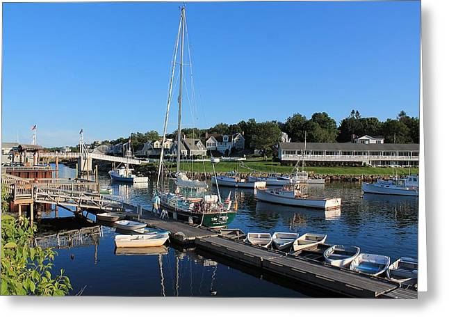 Recently Sold -  - Coastal Maine Greeting Cards - Perkins Cove 2 Greeting Card by Michael Saunders