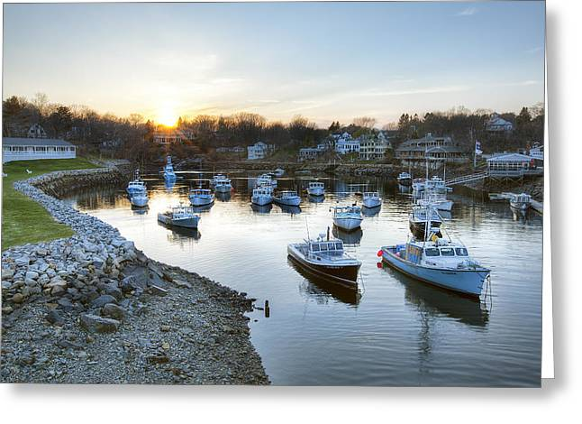 Lobster Bouys Greeting Cards - Perkins Cove Greeting Card by Eric Gendron