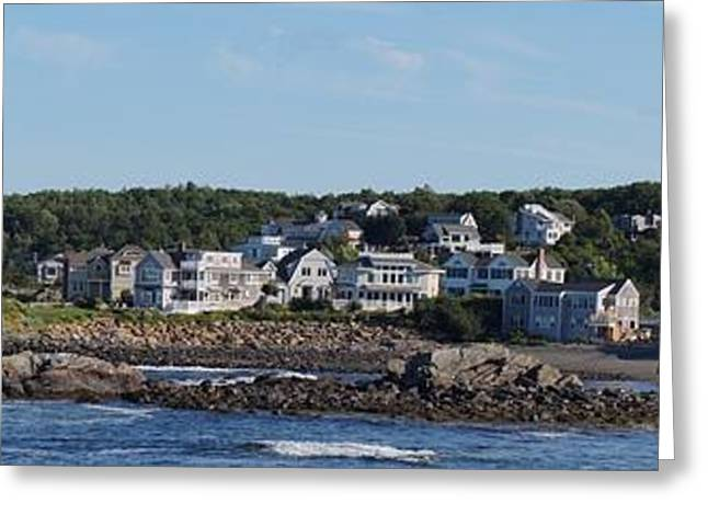Maine Beach Greeting Cards - Perkins Cove in Ogunquit Maine   Greeting Card by Zori Minkova