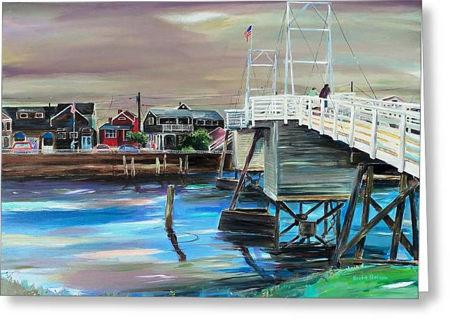 Scott Nelson And Son Paintings Greeting Cards - Perkins Cove Maine Greeting Card by Scott Nelson