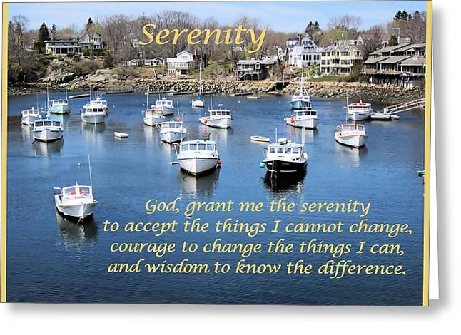 Recently Sold -  - Boats In Harbor Greeting Cards - Perkins Cove Serenity Greeting Card by Patricia Urato
