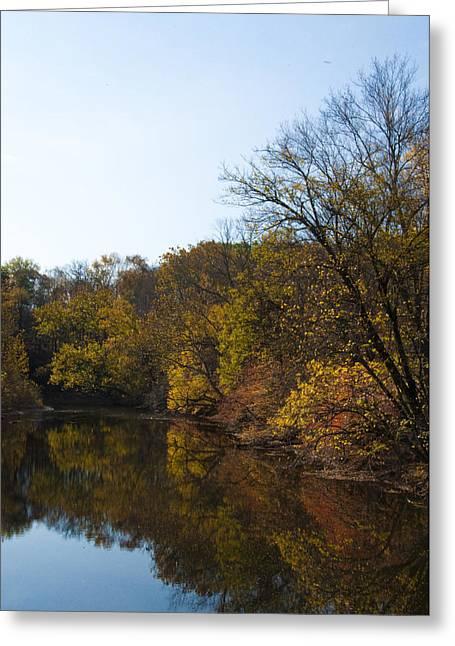 Perkiomen Creek In Autumn Greeting Card by Bill Cannon