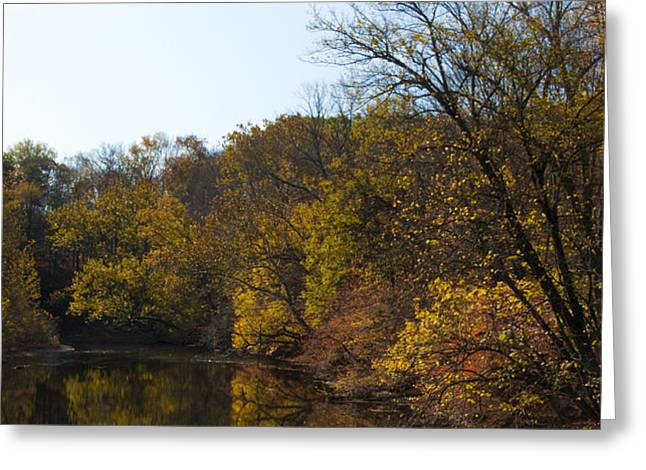 Perkiomen Creek in Autumn Greeting Card by Bill Cannon